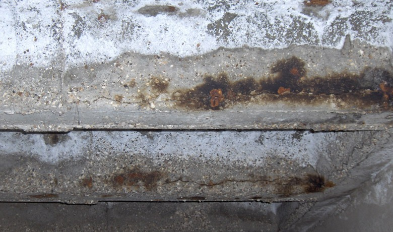 Identifying And Treating Corrosion in Reinforced Concrete Structures - water ingress